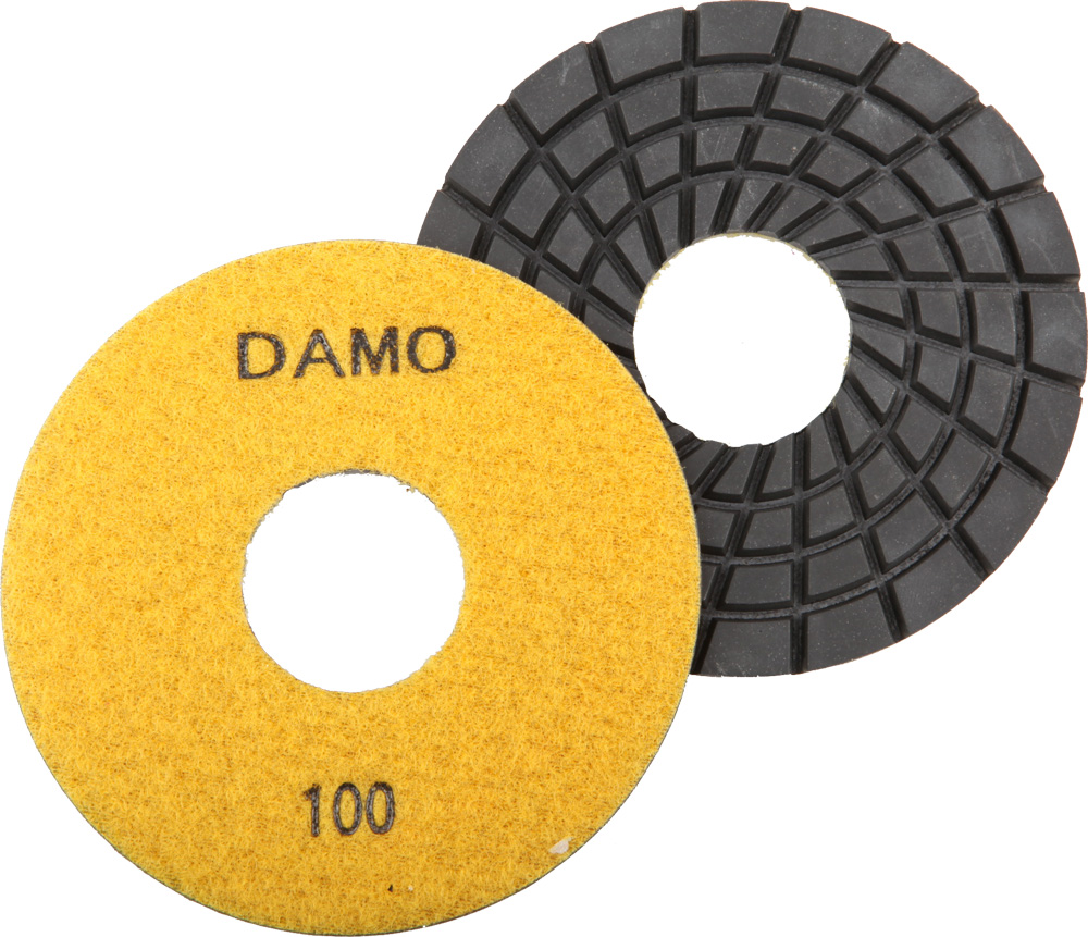 "DAMO 5"" 5.0mm Wet Polishing Pads Grit 100 for Granite / Concrete / Stone Floor at Sears.com"