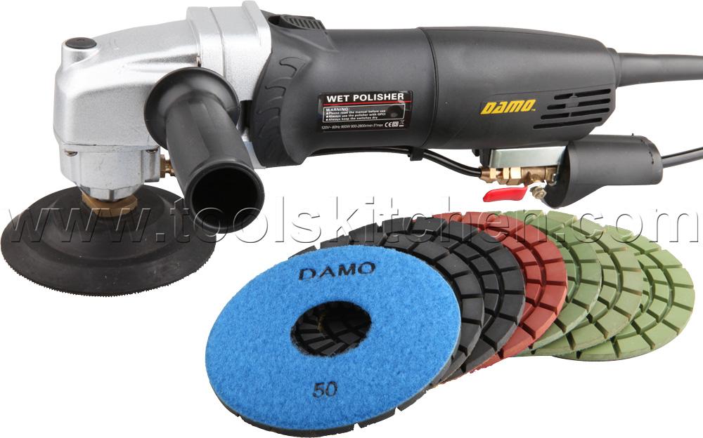 Damo Variable Speed Polisher 5 Quot Wet Polishing Kit For